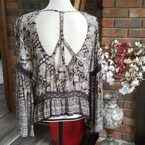 Patrons of Peace Cut Out Boho Top